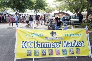 ハワイの食生活、KCCファーマーズマーケット、ハワイ留学