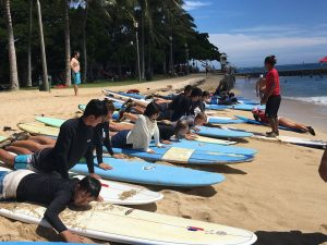グローバルビレッジハワイ, Global Village Hawaii, GV, ハワイ留学, サーフィン